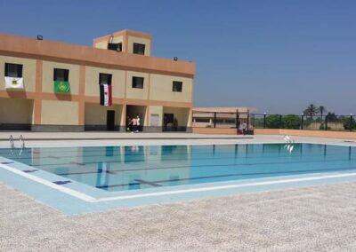 حمام سباحة  نصف اوليمبى ومبنى الخدمات بكلية الزراعة بمشتهر – جامعة بنها